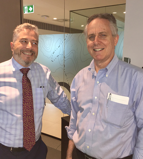 Dave Jarvis (left) with Dr David Manfield (right)